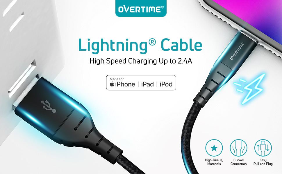 apple charging cable lightning charger 10ft iphone braided unbreakable cord original mfi certified