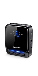ELEGIANT Transmisor Bluetooth 5.0, Receptor Inalámbrico 2 en ...