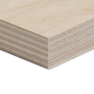 Alsino Bastler Holz Holzplatten zum Basteln DIY Heimwerker Multiplexplatte Zuschnitt Sperrholz-Platten Holz Massiv Naturfarbe unbehandelt