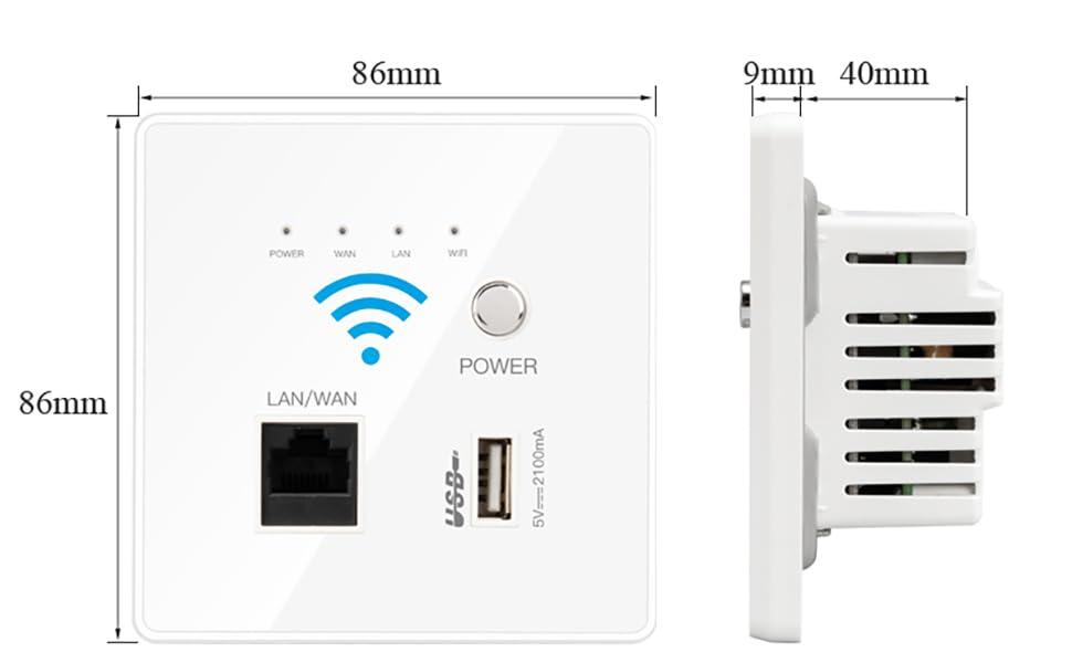 wifi  USB Charging Smart in-wall