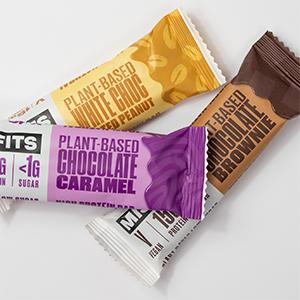 Misfits - Barra de proteína vegetal - 15 g de proteína, 1 g ...