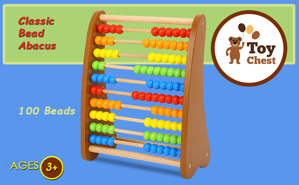 wooden bead abacus counting toy