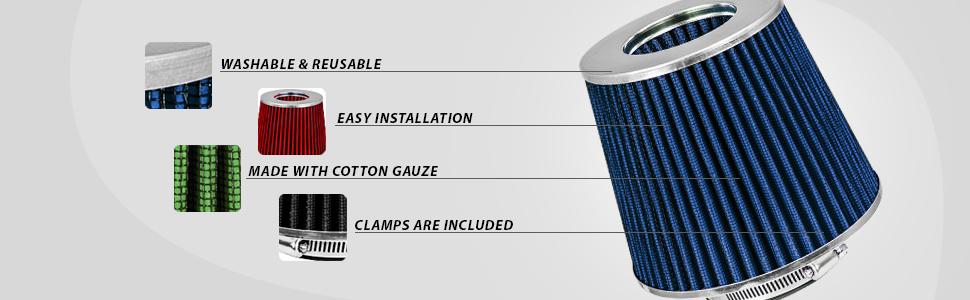 washable reusable cotton clamps filters