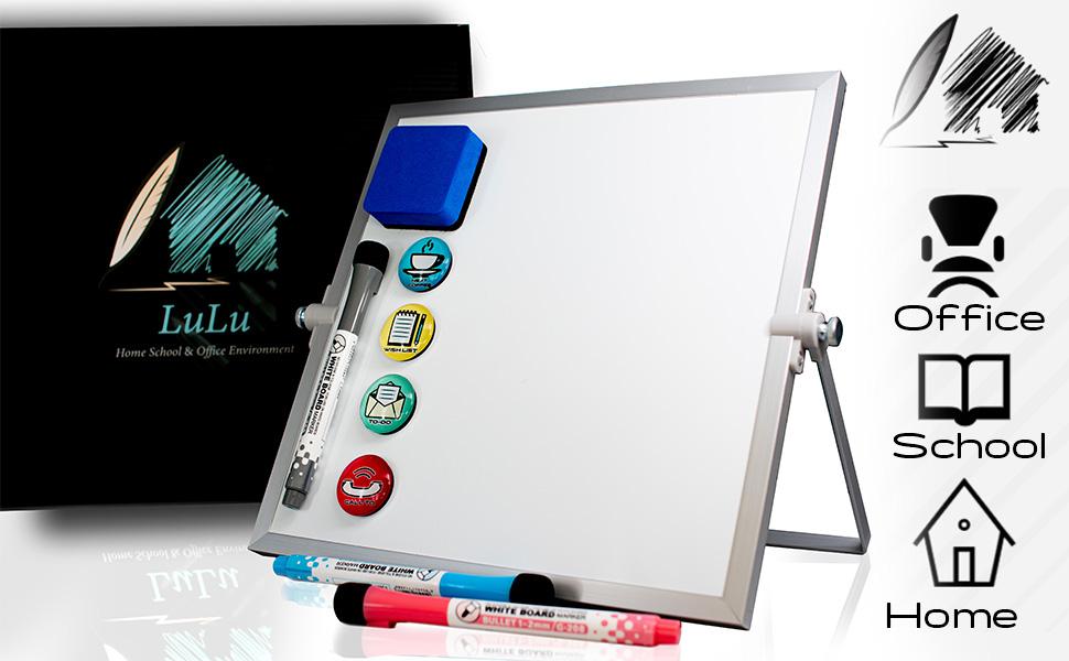 silver frame whiteboard