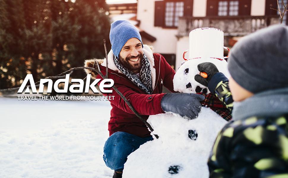 Escalada Andake Guantes de Invierno Esqui Hombre Caliente 90//10 Pato Abajo Anti-Viento para Senderismo Correr Ciclismo Deportes Alpinismo Ocio Recogiendo Cosas en Invierno