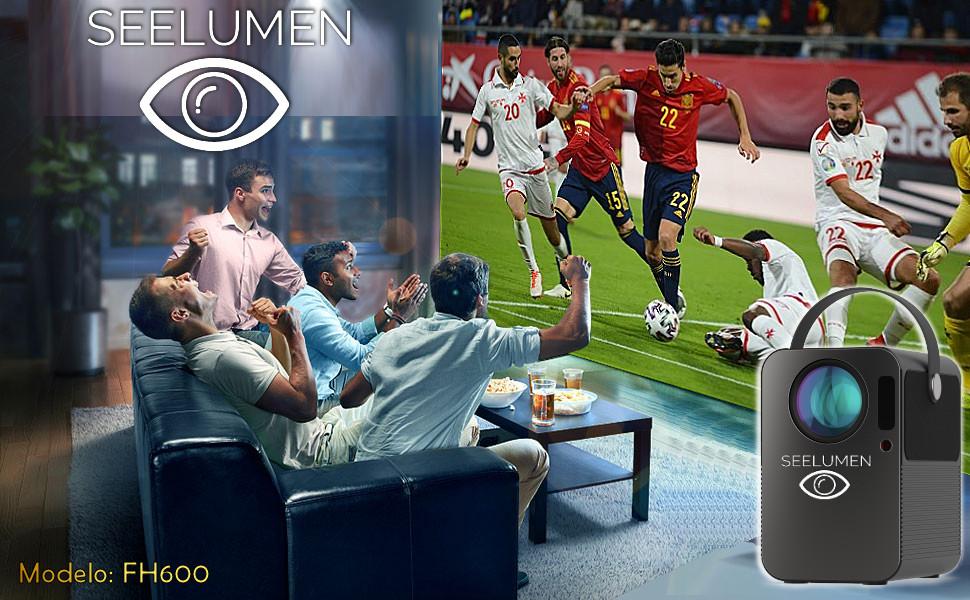 proyector portatil, seelumen fh600, proyector 4k, proyector fullhd, 8000 lumenes, yaber, wimius