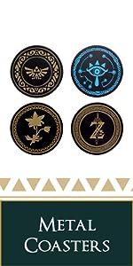 Zelda Metal Coasters
