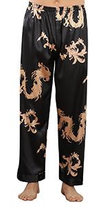 YAOMEI Men's Pyjamas Bottoms, Long Drawstring Lounge Shorts Pants Nightwear Underwear