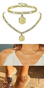 anklet necklace set