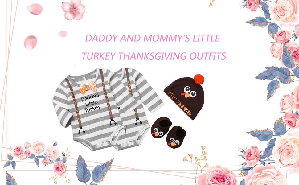newborn baby girl thanksgiving romper