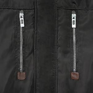 zipper Chest Pockets