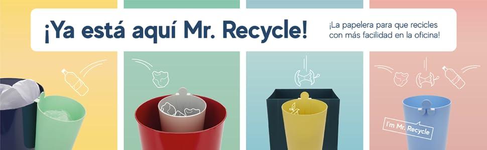 Mr recycle papelera reciclaje oficina