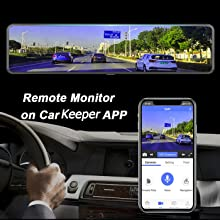 Remote Monitor on Car Keeper APP