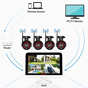 wireless video surveillance camera system