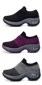 platform walking shoes