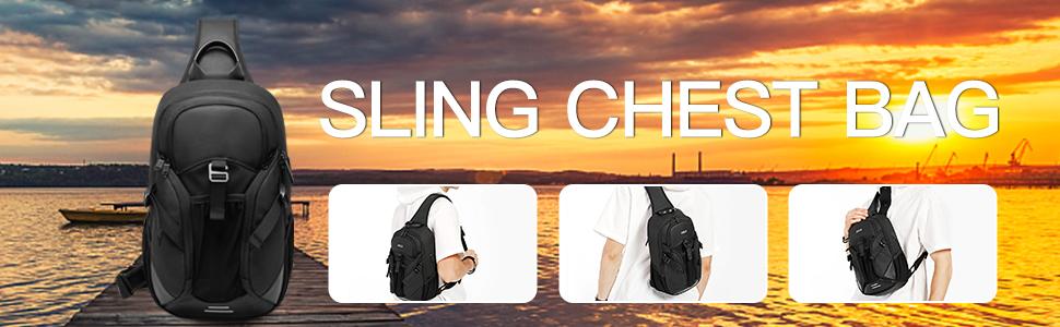 shoulder bag for men anti theft sling bags crossbody backpack mens chest bag  satchel