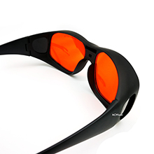 MCWlaser Gafas Protectoras de Seguridad con láser Gafas para 355 NM 532 NM 808 NM 980 NM 1064 NM (190-540 y 800-1700 NM) Tipo de absorción Gafas para ...