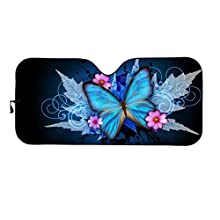Blue Butterfly  Car Sun Shade for Window Front