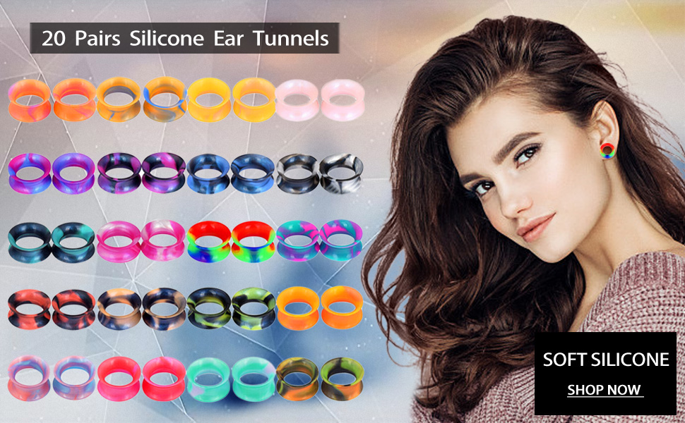silicone ear tunnels