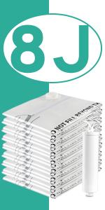 Eono Essentials - Paquete de 8 Bolsas prémium de compresión al ...