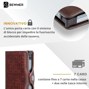 mini wallet rfid protection porta badge porta bancomat lusso lux porta foglio anti frode