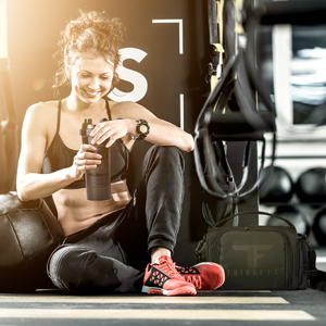 ThinkFit shaker cups, supplement dispensers, and meal prep bags are perfect for fitness at the gym
