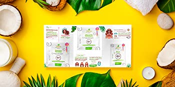 Brochure Naissant Professional Coconut Kit Set Capilar Treatments Shampoo Conditioner Coconut Oil