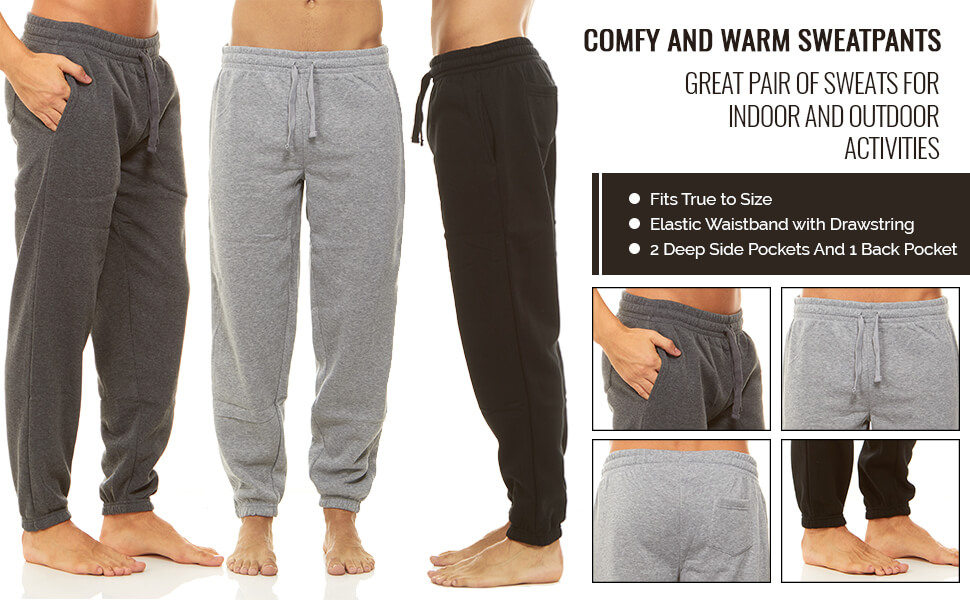 jogging athletic grey black gym gray fleece lounge elastic bottom white pajama warm up