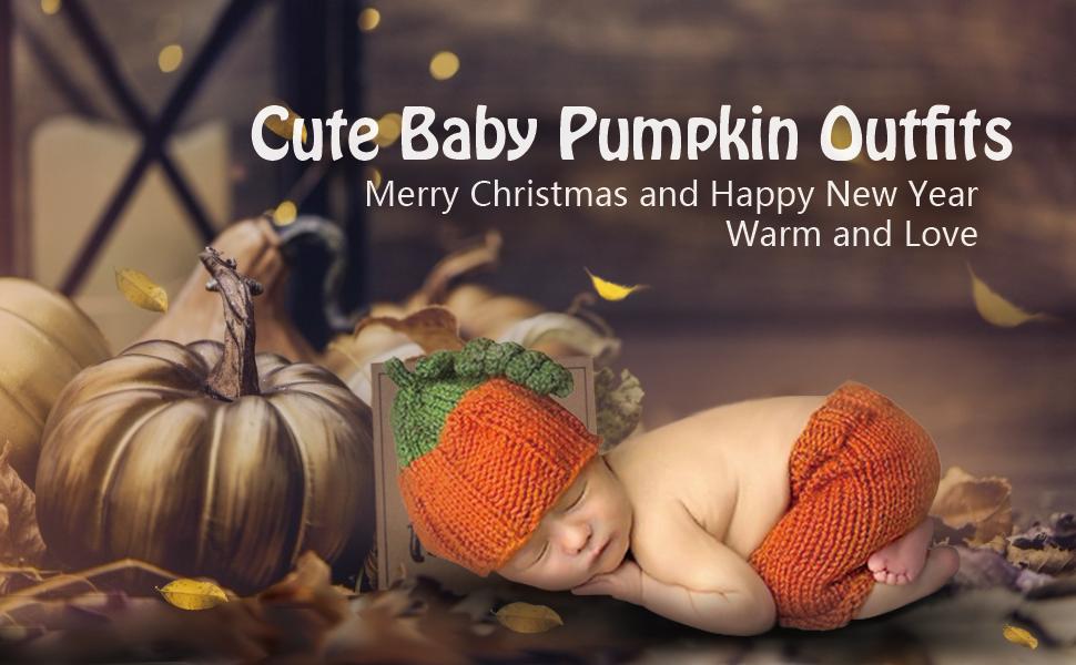Christmas pumpkin costume newborn