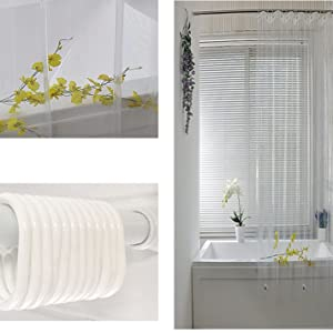 透明 シャワーカーテン 防カビ