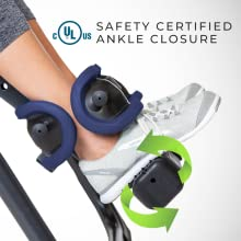UL Safety Certified Ankle Closure