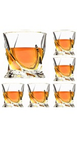 Twist Whiskey glasses set of 6