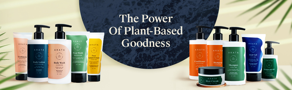 Arata's Plant-Derived Skin Care Range