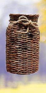 brown flower vase