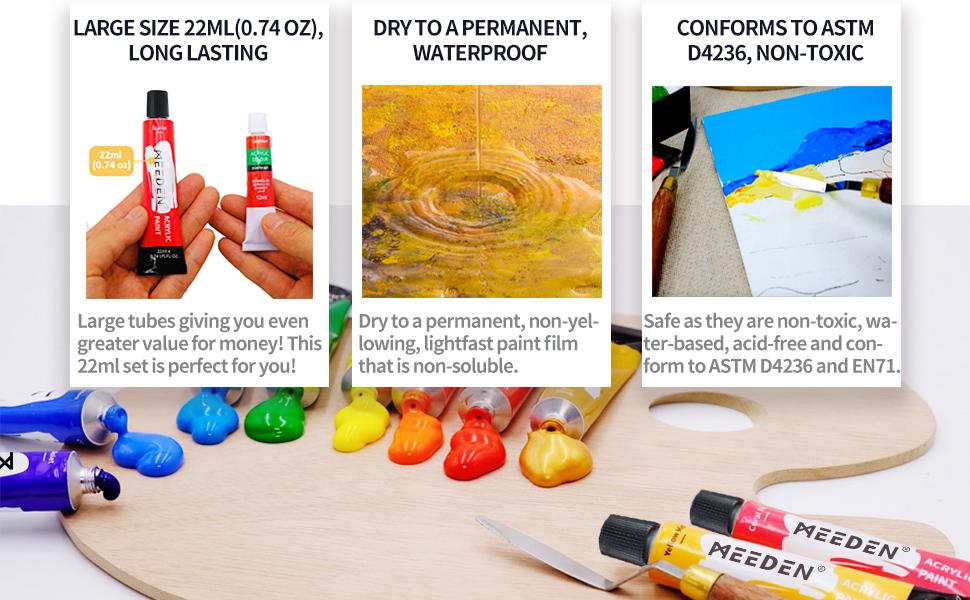 long lasting paint set,waterproof paint,non-toxic paint set