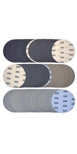 6 Inch Assorted Grit Sanding Discs Sanding Discs, 100 Pack