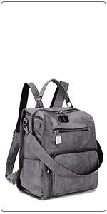 Grey Backpack Purse