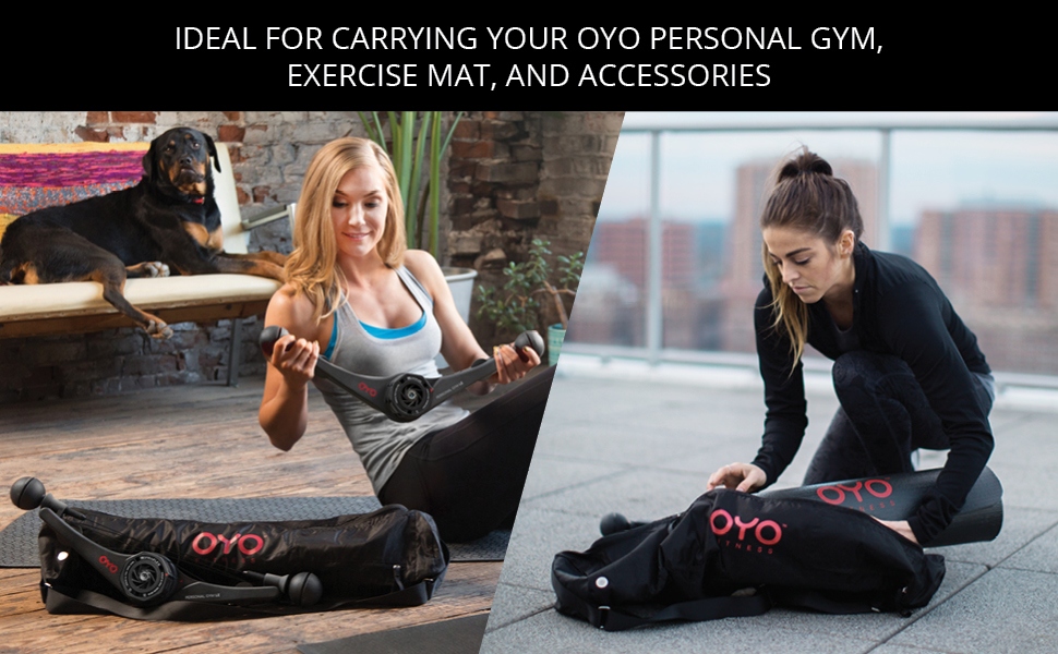 oyo fitness ideal for carrying your personal gym exercise mat and accessories