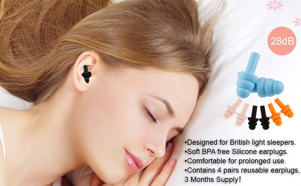 Soft Foam Ear Plugs for Sleeping Noise Cancelling