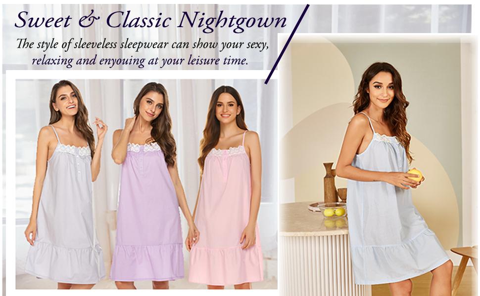 softl and elegant ladies nightgown