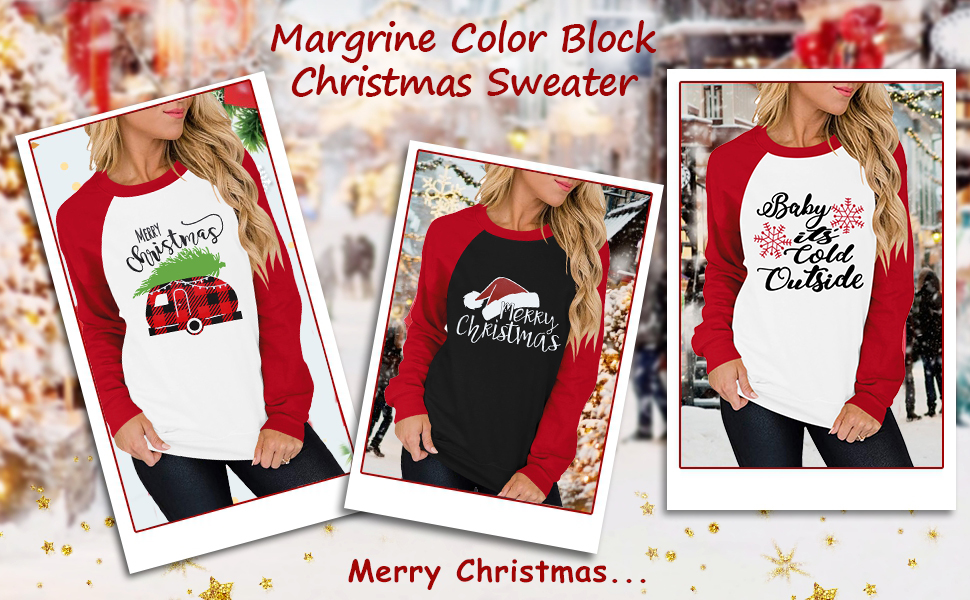Merry Christmas Sweatshirt for Women Christmas Plaid Leopard Tree Print Shirt Blouse Long Sleeve Top