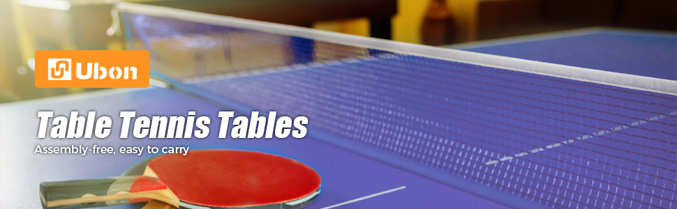 Ubon Portable Table Tennis Tables