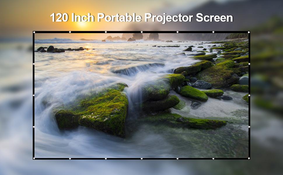 MANDZIXIN 120inch 16:9 HD 4K Portable Projector Screen