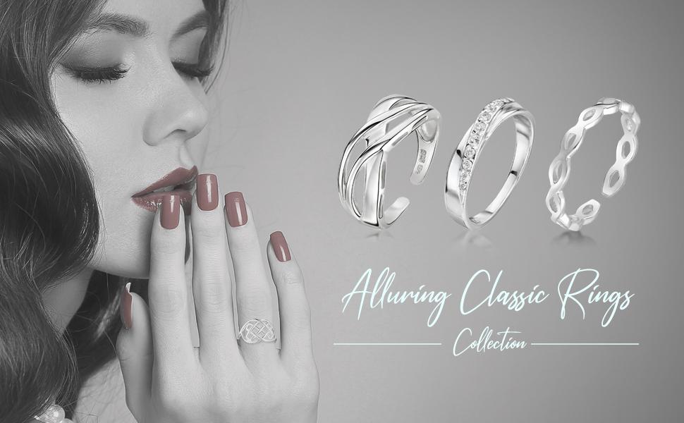 Amberta Anelli in Argento Sterling 925 - Anello per Donna - Disegno Celtico: Nodo dell'Eternità