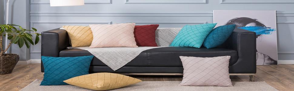 sunday praise plaid pillow covers