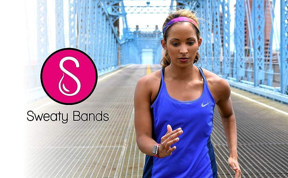 Sweaty Bands Womens and Girl Headband - Non-Slip Velvet-Lined Sport Hairband