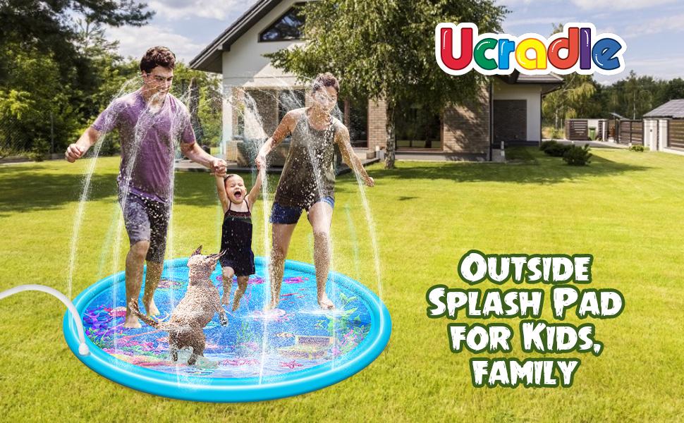 "68"" Large Sprinkler Play Mat for Kids"