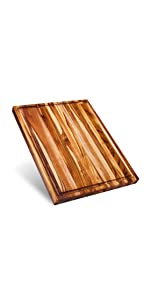 large teak wood cutting board