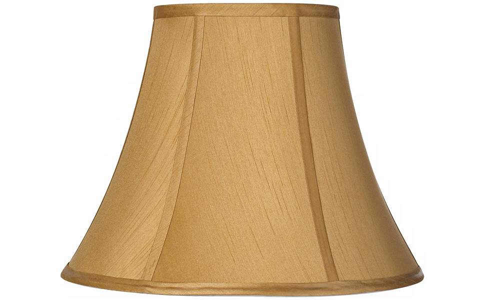 Coppery Gold Bell Lamp Shade 7x14x10.5 (Spider) - Springcrest - Lampshades  - Amazon.com