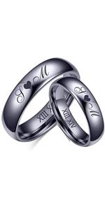 4/6 MM Wedding Ring Couple